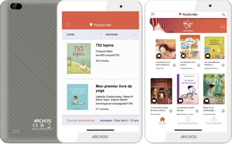 Archos et Youscribe : toute une bibliothèque dans une tablette