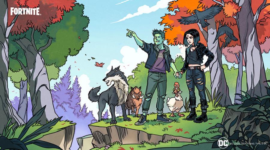 Beast boy des Teen Titans rejoint le combat dans Fortnite