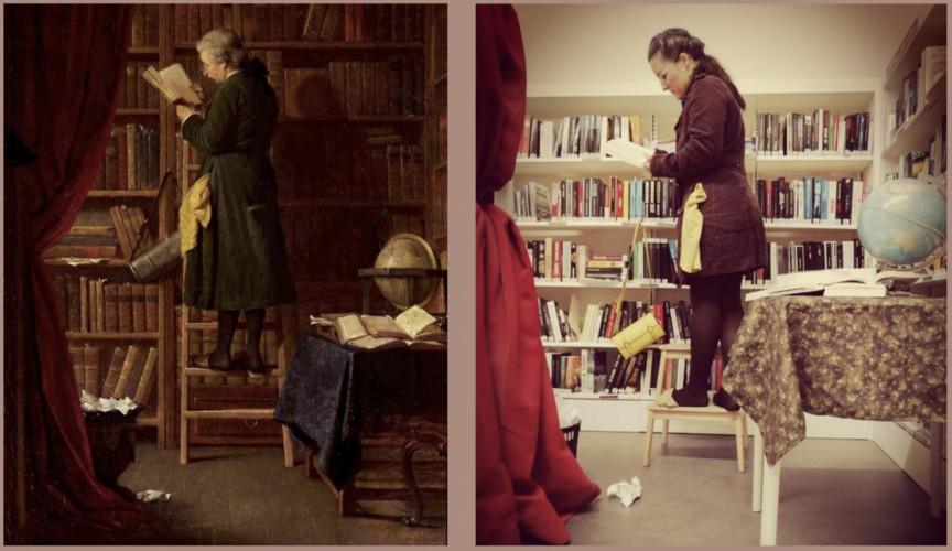 Des bibliothécaires se changent en tableaux vivants de maîtres