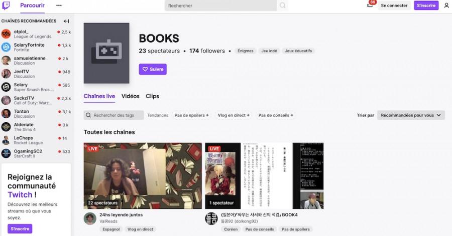 Twitch, une nouvelle façon de partager des livres