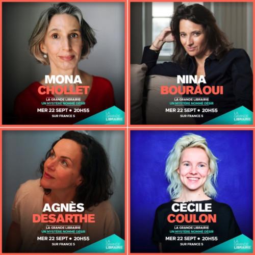 Quatre autrices pour parler d'amour, invitées de La Grande Librairie