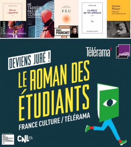 Prix du Roman des étudiants France Culture-Telerama : 5 romans pour la 9e édition