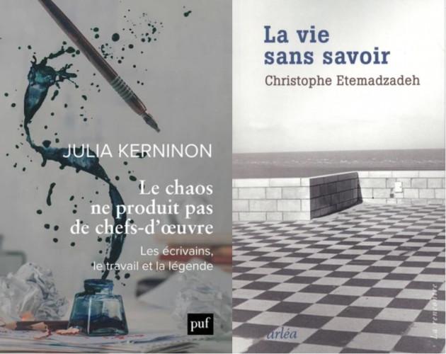 Les deux ouvrages du Prix Khôra-Institut de France de l'essai littéraire 2021