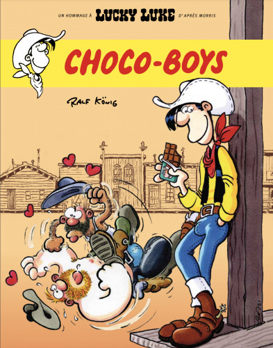 Choco-Boys : Lucky Luke convoyeur de chocolat suisse dans le Far West
