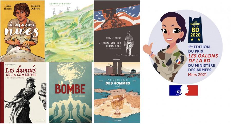On ne bulle pas à l'armée : les six finalistes du prix Les Galons de la BD 2021