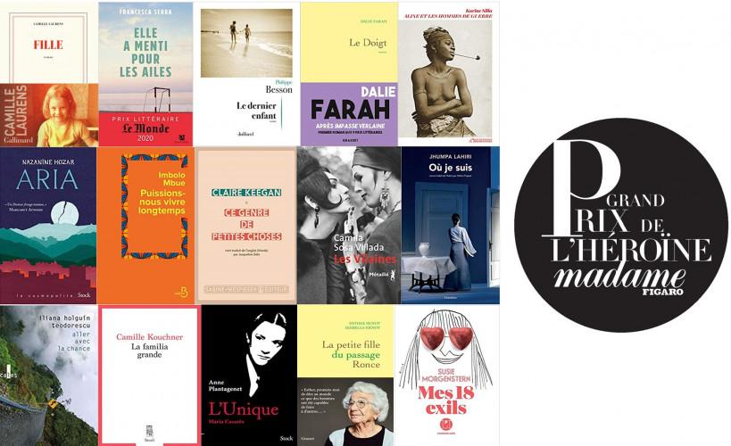 Grand Prix de l'Héroïne Madame Figaro 2021 : 15 livres en compétition