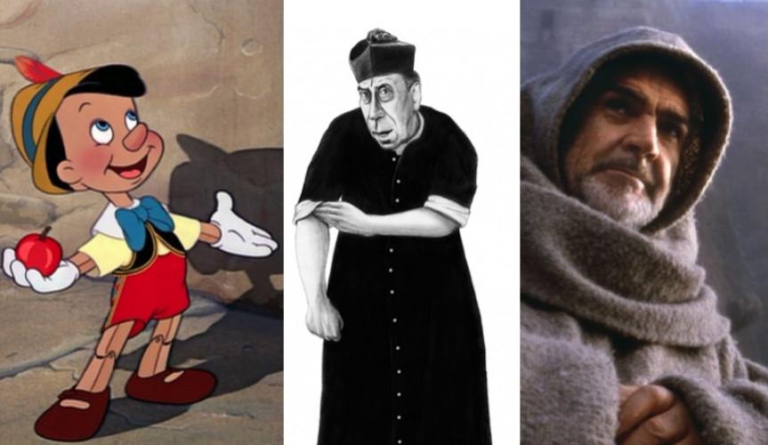 Pinocchio bat Don Camillo et Le nom de la rose