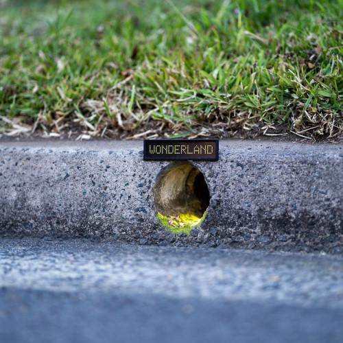 Chère Alice... Un street artist dévoile l'entrée du Pays de merveilles
