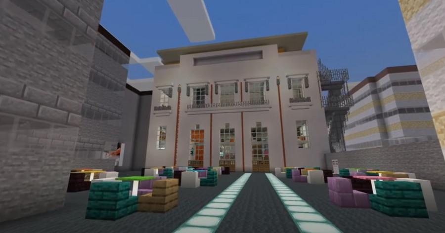 La médiathèque de Verdun, L'Æncre, sort de terre... sur Minecraft