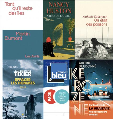Sélection du Prix du Livre France Bleu - Page des libraires, 7e saison