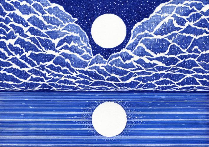 Exposition: Red and Blue lines, de Kevin Lucbert, tout en traits de stylo
