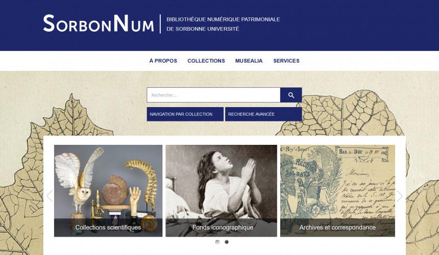 Sorbonne Université inaugure sa bibliothèque numérique en accès libre