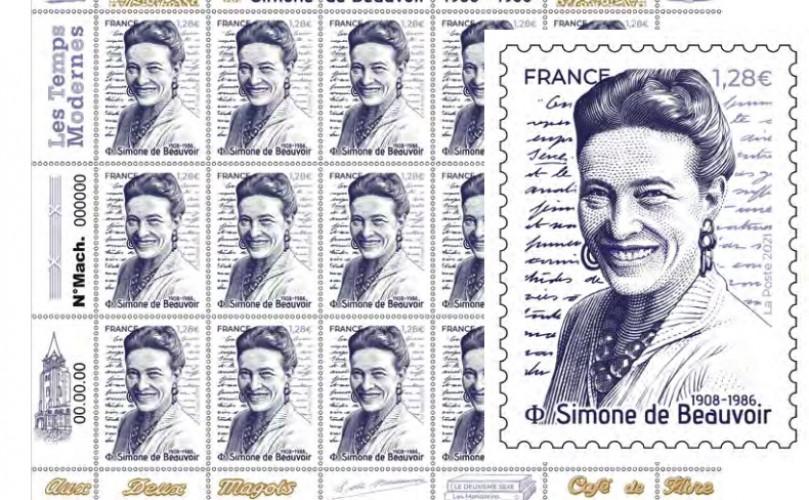 Un timbre à l'effigie de Simone de Beauvoir, ce 8 mars