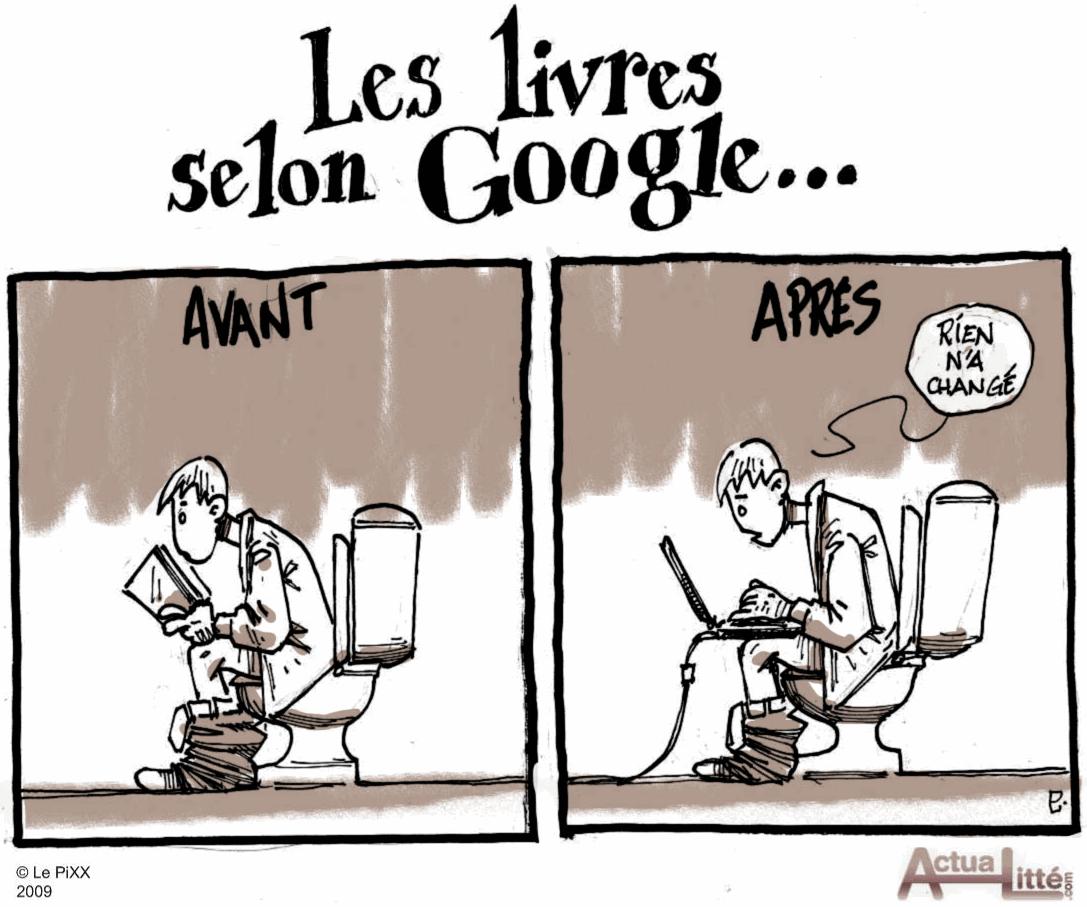 Google Books toilettes lecture