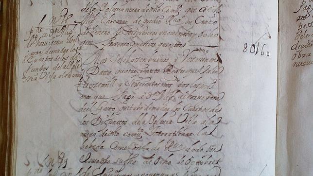 documents registre Cervantes enterrement eglise trinitaires