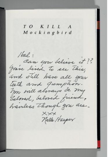 Harper Lee lettres enchères