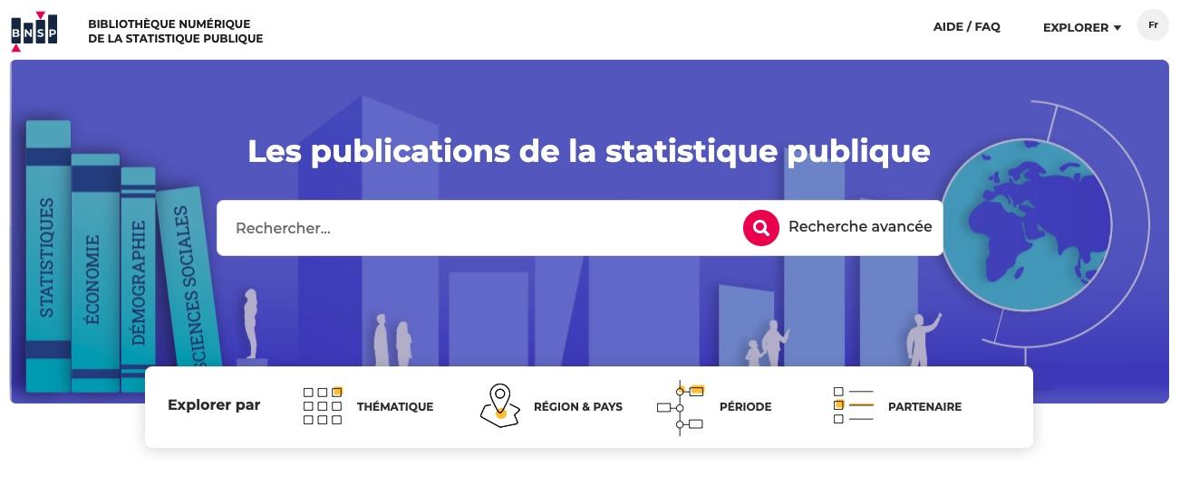 Il y a maintenant une bibliothèque numérique de la statistique publique
