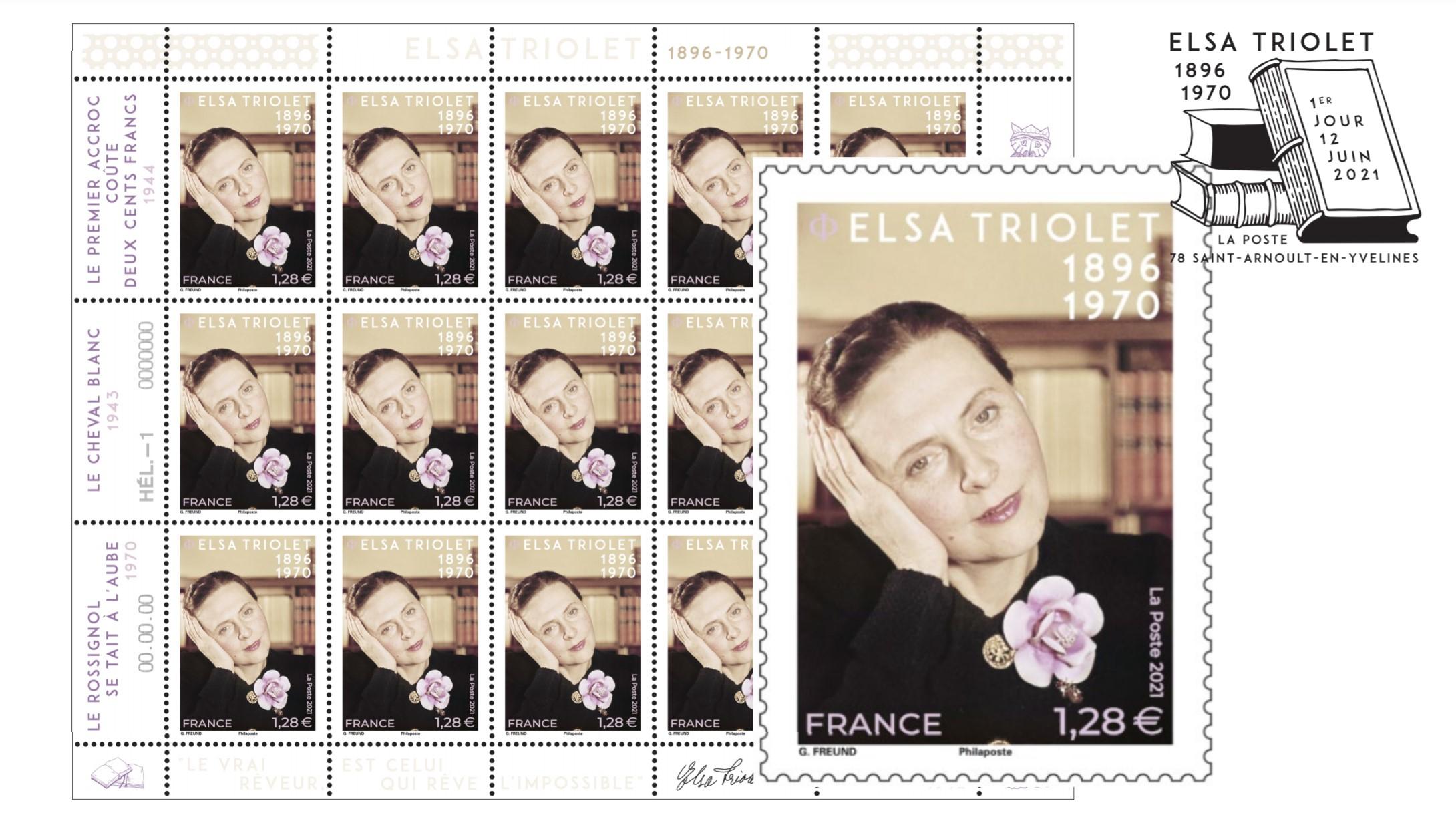 Écrivaine et femme engagée, Elsa Triolet a droit à son timbre
