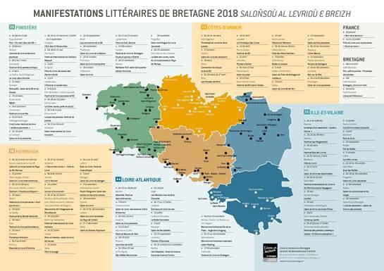 Guide Et Carte Des Manifestations Litteraires De Bretagne Edition 2018