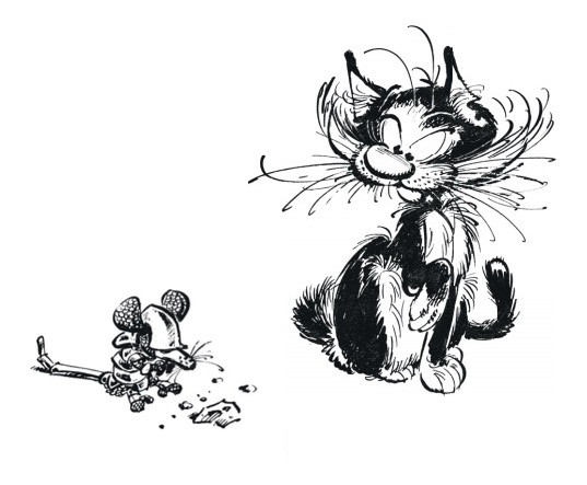 Franquin enchères chat Gaston