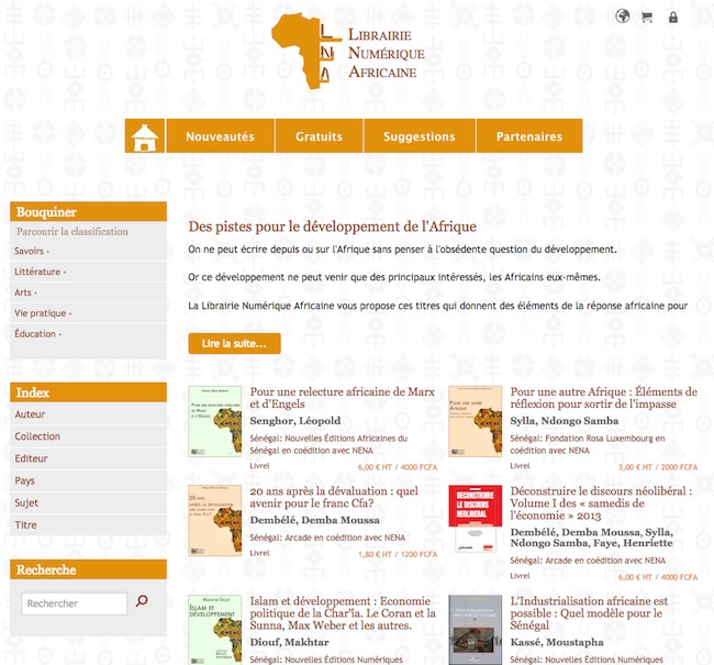 NENA LNA librairie numérique africaine